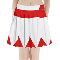 Roundel Of Austrian Air Force  Pleated Mini Skirt