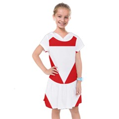 Roundel Of Austrian Air Force  Kids  Drop Waist Dress