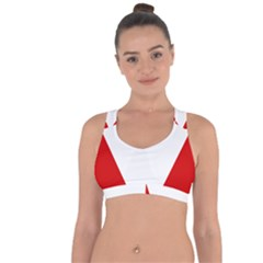 Roundel Of Austrian Air Force  Cross String Back Sports Bra