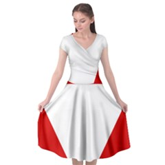 Roundel Of Austrian Air Force  Cap Sleeve Wrap Front Dress