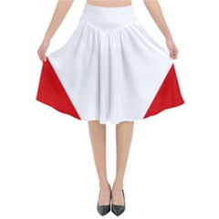 Roundel Of Austrian Air Force  Flared Midi Skirt