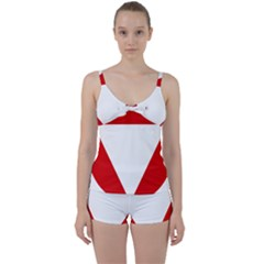 Roundel Of Austrian Air Force  Tie Front Two Piece Tankini