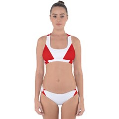 Roundel Of Austrian Air Force  Cross Back Hipster Bikini Set