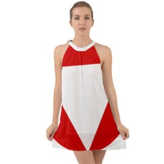 Roundel Of Austrian Air Force  Halter Tie Back Chiffon Dress