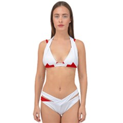 Roundel Of Austrian Air Force  Double Strap Halter Bikini Set