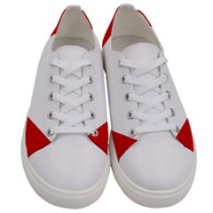 Roundel Of Austrian Air Force  Women s Low Top Canvas Sneakers