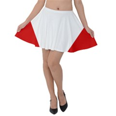 Roundel Of Austrian Air Force  Velvet Skater Skirt