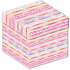 Watercolor Tribal Pattern Storage Stool 12