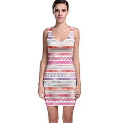 Watercolor Tribal Pattern Bodycon Dress