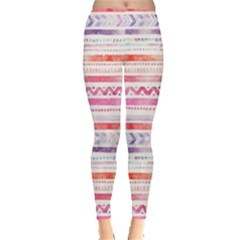 Watercolor Tribal Pattern Leggings