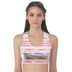 Watercolor Tribal Pattern Sports Bra
