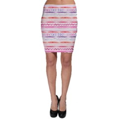 Watercolor Tribal Pattern Bodycon Skirt