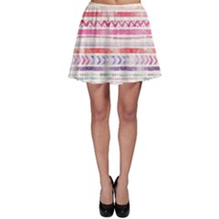 Watercolor Tribal Pattern Skater Skirt