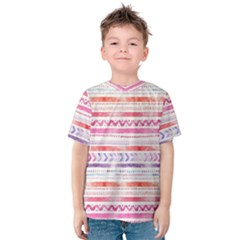 Watercolor Tribal Pattern Kids  Cotton Tee