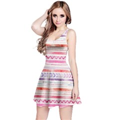 Watercolor Tribal Pattern Reversible Sleeveless Dress