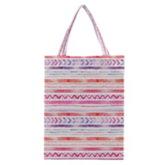 Watercolor Tribal Pattern Classic Tote Bag