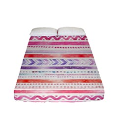 Watercolor Tribal Pattern Fitted Sheet (full/ Double Size)