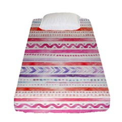 Watercolor Tribal Pattern Fitted Sheet (single Size)