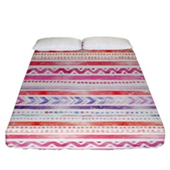 Watercolor Tribal Pattern Fitted Sheet (king Size)