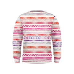 Watercolor Tribal Pattern Kids  Sweatshirt