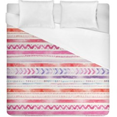 Watercolor Tribal Pattern Duvet Cover (king Size)