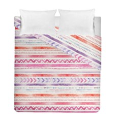 Watercolor Tribal Pattern Duvet Cover Double Side (full/ Double Size)