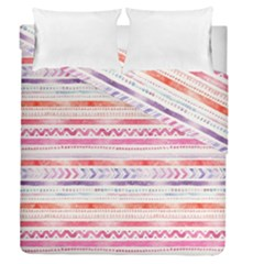 Watercolor Tribal Pattern Duvet Cover Double Side (queen Size)