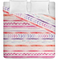 Watercolor Tribal Pattern Duvet Cover Double Side (king Size)