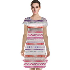 Watercolor Tribal Pattern Cap Sleeve Nightdress