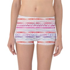 Watercolor Tribal Pattern Reversible Boyleg Bikini Bottoms