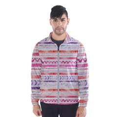 Watercolor Tribal Pattern Wind Breaker (men)