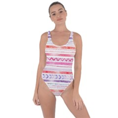 Watercolor Tribal Pattern Bring Sexy Back Swimsuit