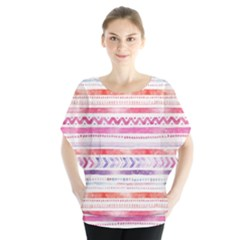 Watercolor Tribal Pattern Blouse