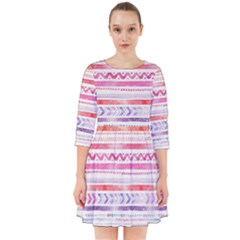 Watercolor Tribal Pattern Smock Dress