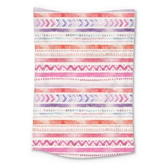 Watercolor Tribal Pattern Large Tapestry