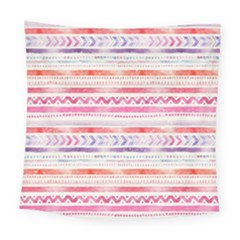 Watercolor Tribal Pattern Square Tapestry (large)