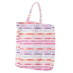 Watercolor Tribal Pattern Giant Grocery Zipper Tote
