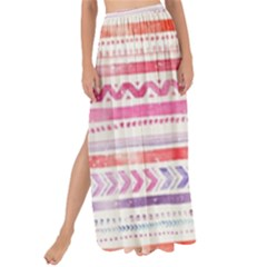 Watercolor Tribal Pattern Maxi Chiffon Tie Up Sarong