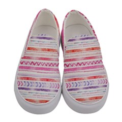 Watercolor Tribal Pattern Women s Canvas Slip Ons