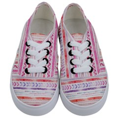 Watercolor Tribal Pattern Kids  Classic Low Top Sneakers