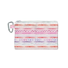 Watercolor Tribal Pattern Canvas Cosmetic Bag (small)