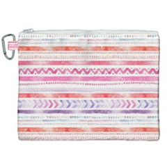 Watercolor Tribal Pattern Canvas Cosmetic Bag (xxl)