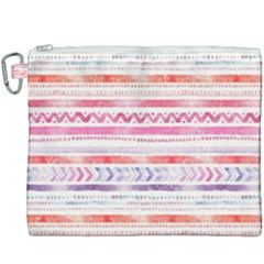 Watercolor Tribal Pattern Canvas Cosmetic Bag (xxxl)