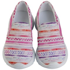 Watercolor Tribal Pattern Kid s Lightweight Slip Ons