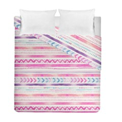 Watercolor Tribal Pattern  Duvet Cover Double Side (full/ Double Size) by tarastyle