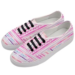 Watercolor Tribal Pattern  Women s Classic Low Top Sneakers by tarastyle