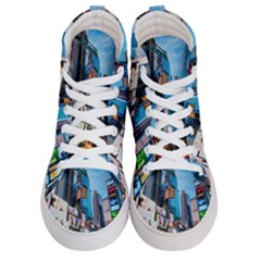New York City Women s Hi Top Skate Sneakers