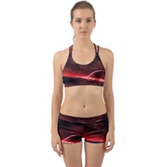 Outer Space Red Stars Star Back Web Gym Set