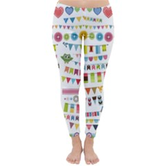 Owl Pattern Classic Winter Leggings by Sapixe