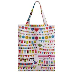 Owl Pattern Zipper Classic Tote Bag by Sapixe